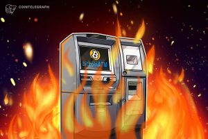 Read more about the article Protesters burn Bitcoin ATM as part of demonstration against El Salvador president